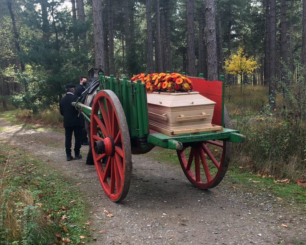 Afscheid nemen op een natuurbegraafplaats